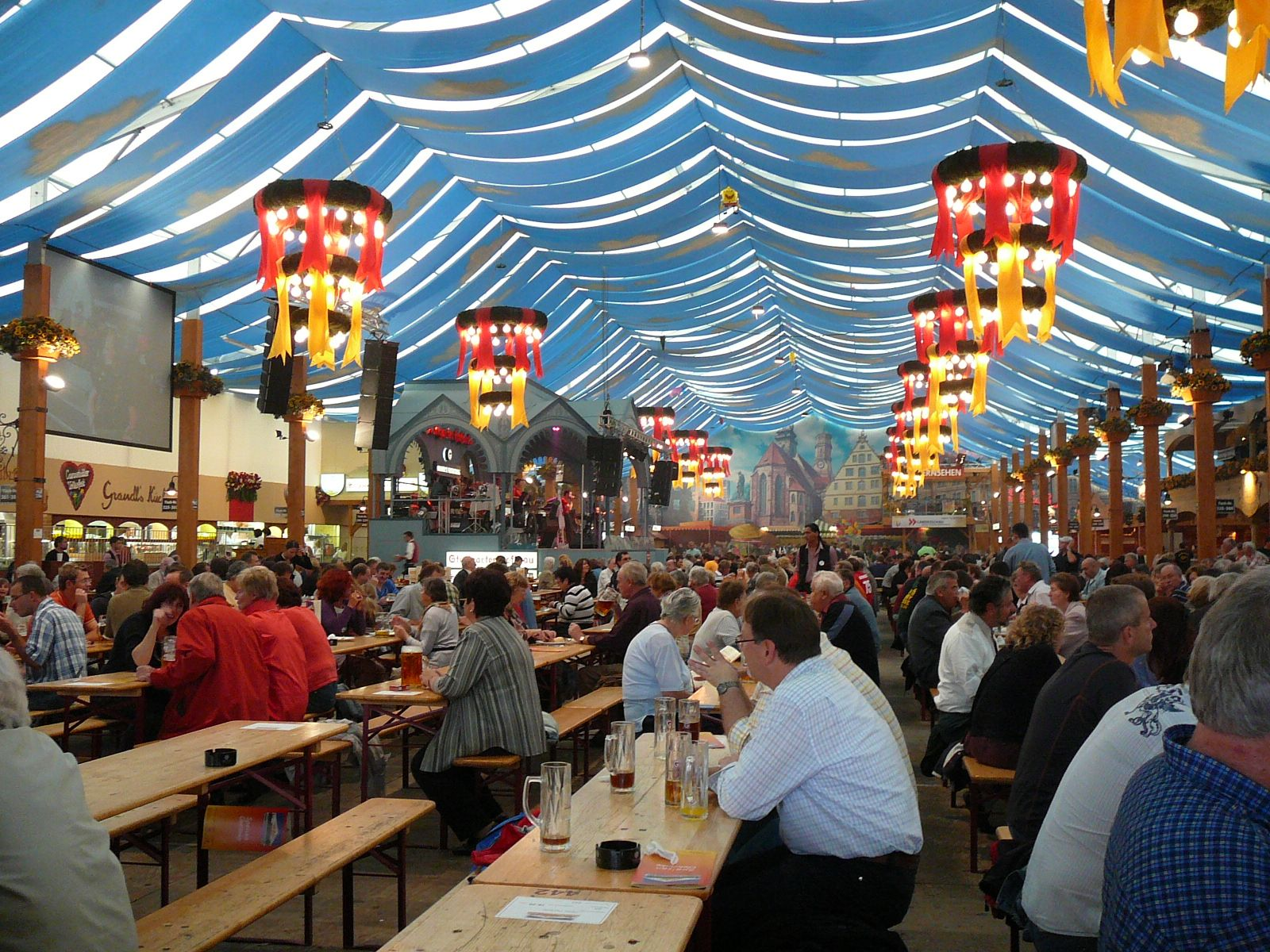 Authentic German Beer Hall Like The Communal Seating With Narrow Tables Poland Food Beer Hall Poland