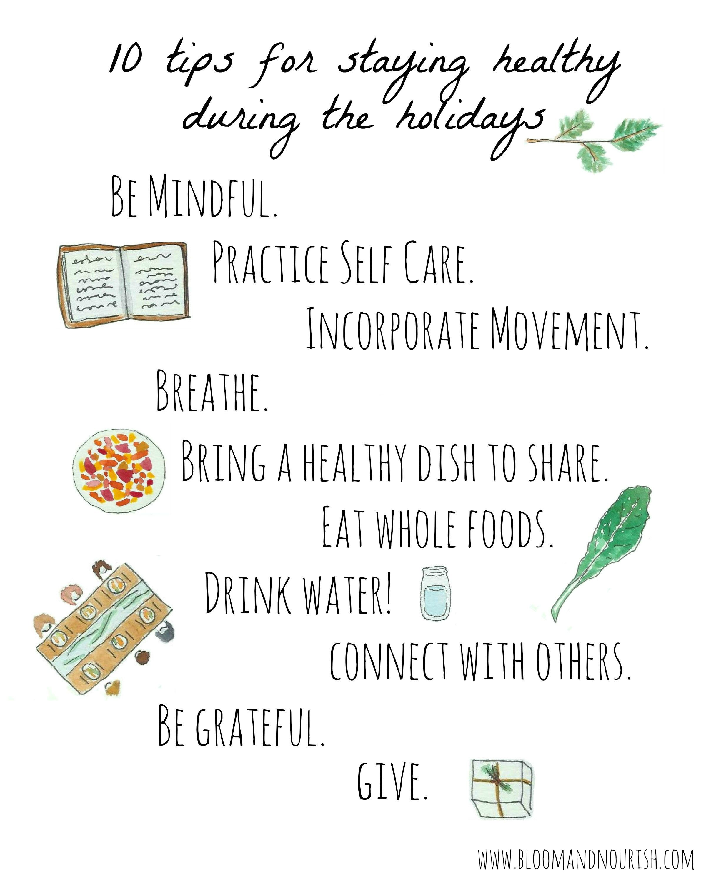 10 Tips For Staying Healthy During The Holidays Remember