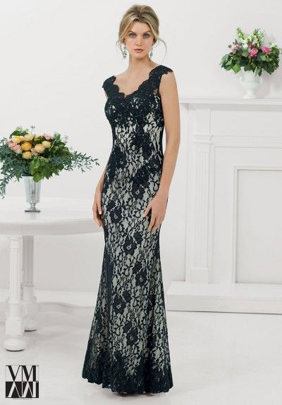 VM Collection 71211 Cap Sleeve Formal Dress: French Novelty