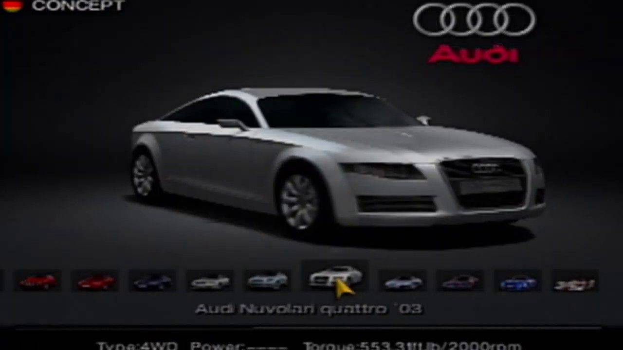 Gran Turismo 4 Audi Motors 2003 Audi Nuvolari Coupe Quattro Audi Motor Audi Turismo