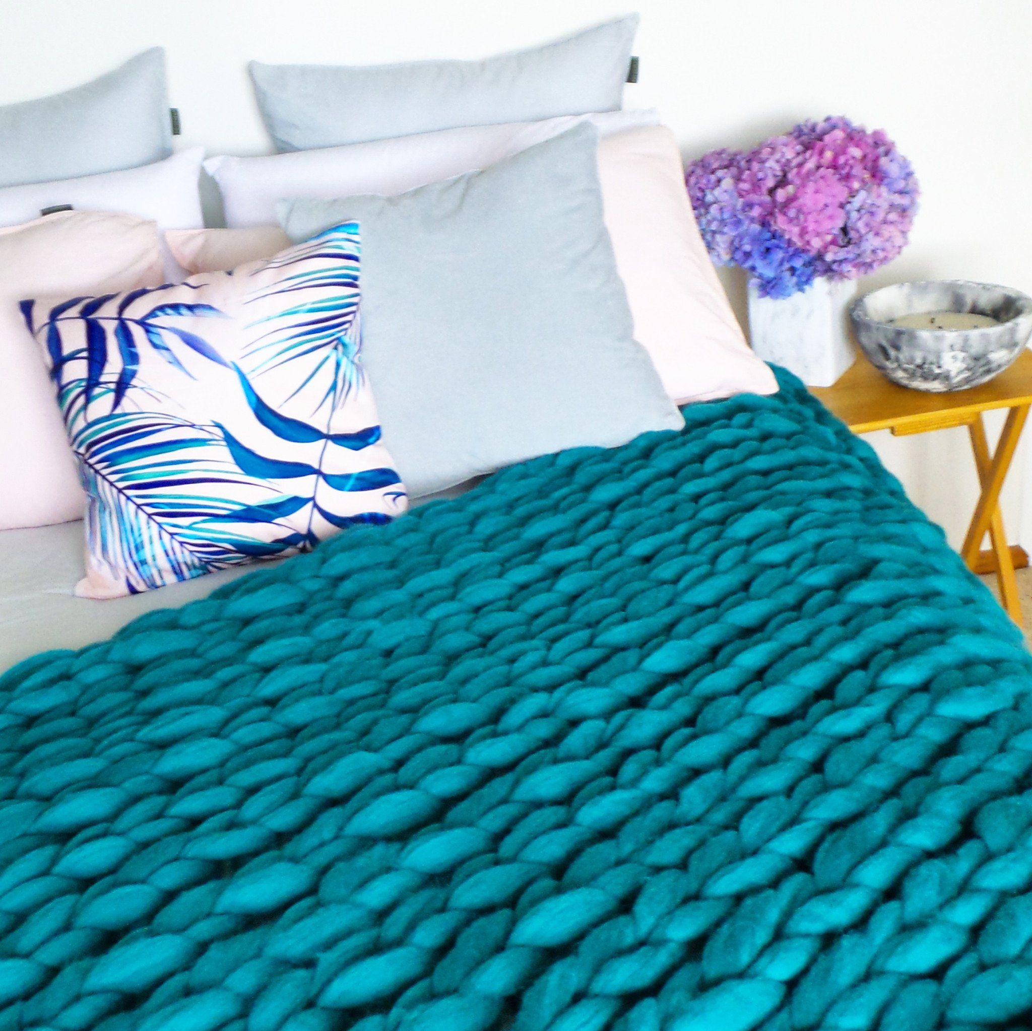 Chunky Wool Throw heartfromhazel.co.nz (With images