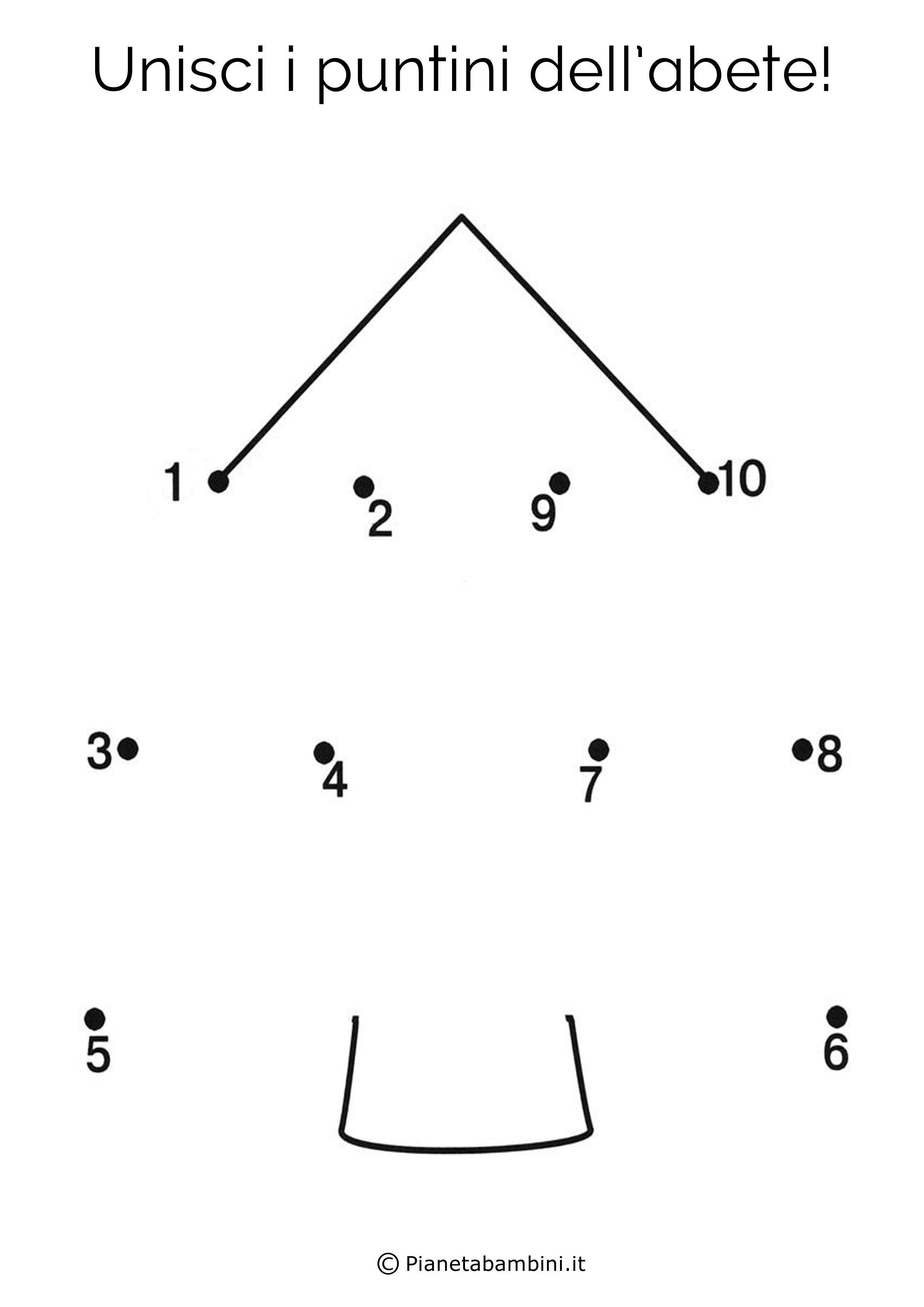 Disegni Di Natale Da Unire Con I Puntini.15 Disegni Unisci I Puntini Da 1 A 10 Per Bambini Piccoli Pianetabambini It Matematica Natale Attivita Stampabili Prescolari