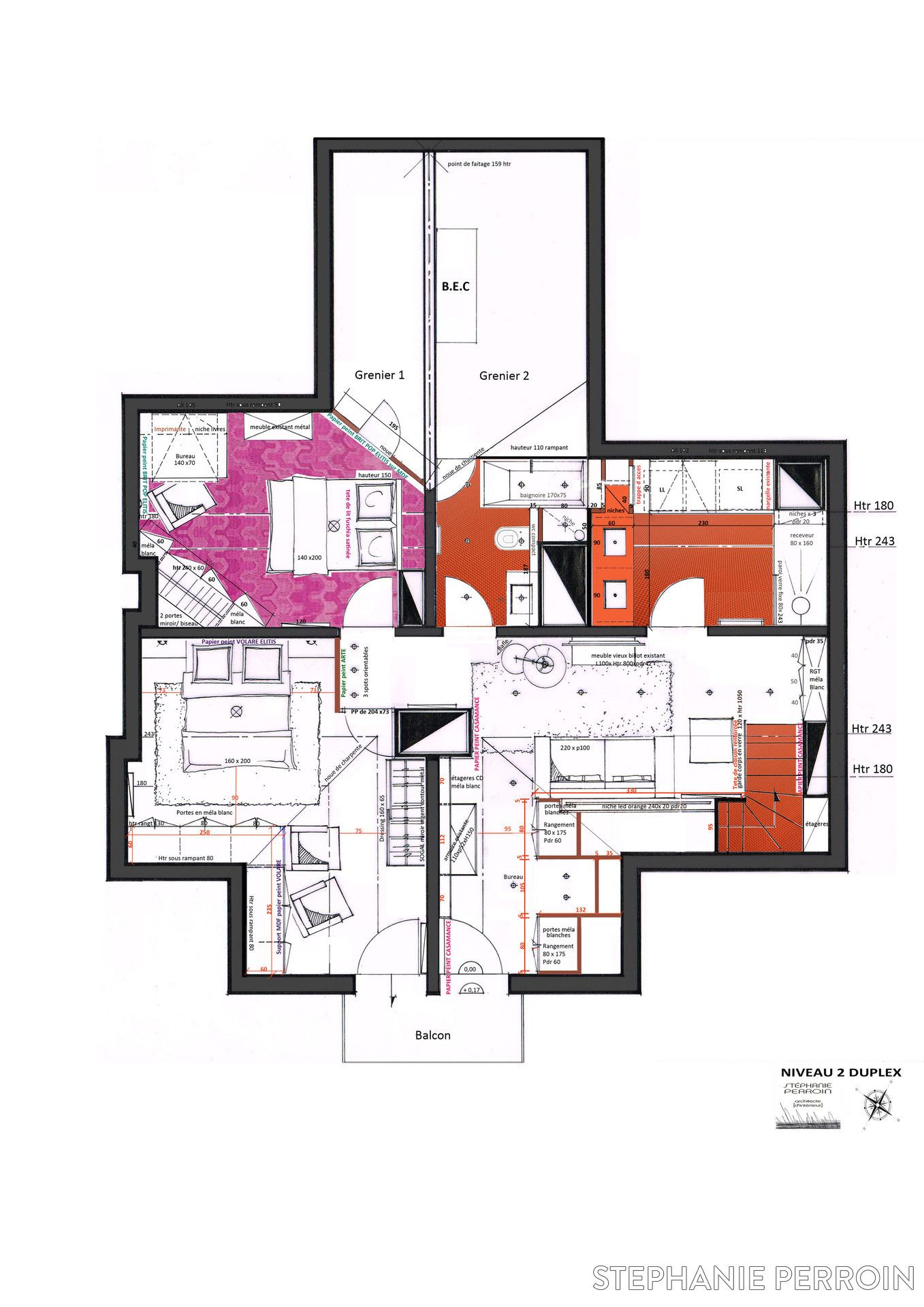 plan appartement 83 m2
