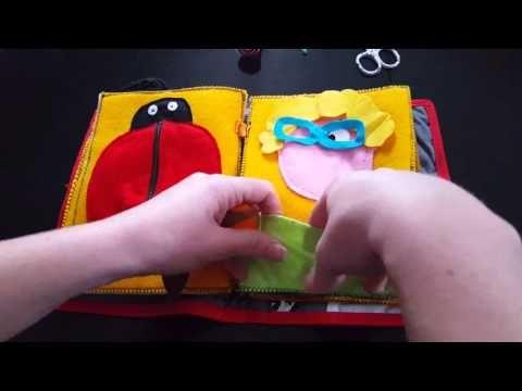 Livre Sensoriel Activites Enfant En Feutrine Youtube