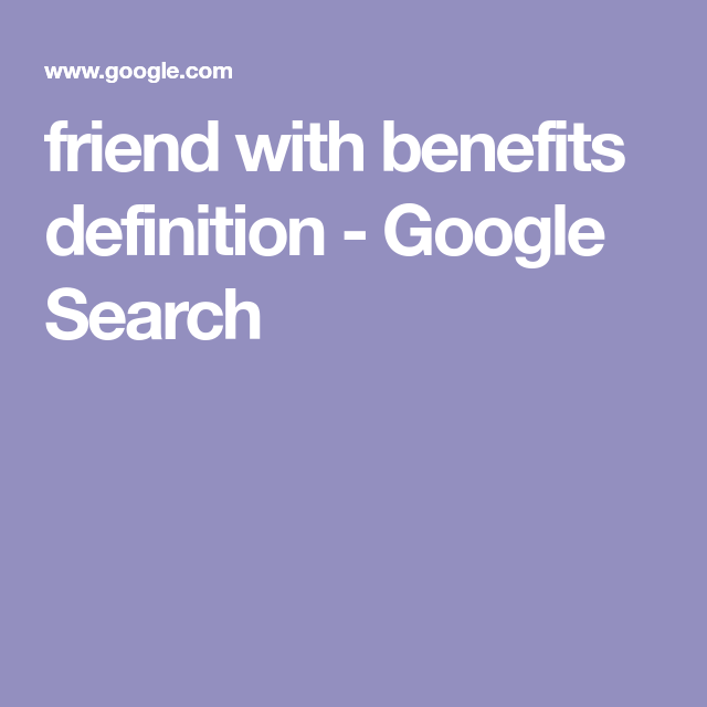 what is the definition of friends with benefits