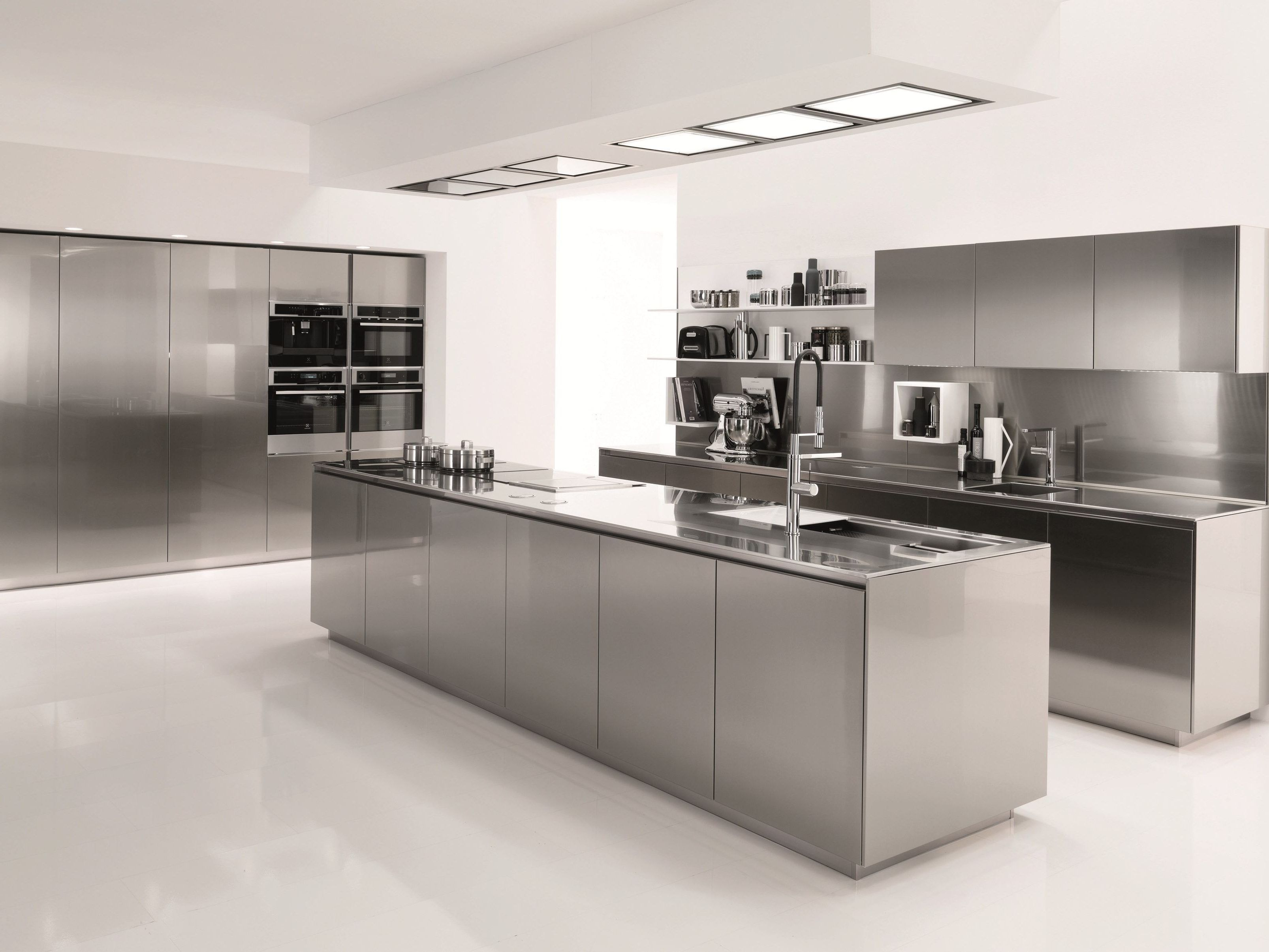 Stainless Steel Kitchen Ikea Built In Dining in