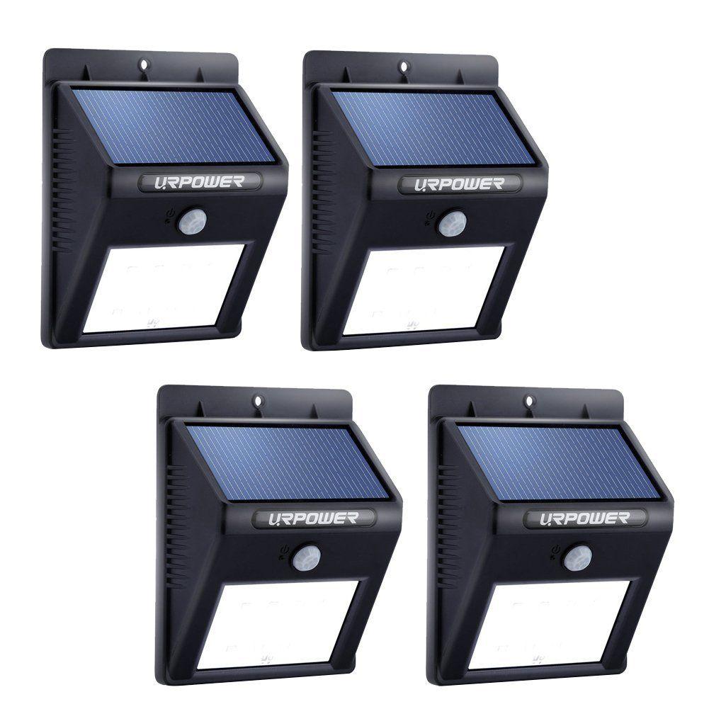 Urpower Solar Lights 8 Led Wireless Waterproof Motion Sensor Outdoor Light For For Patio Deck