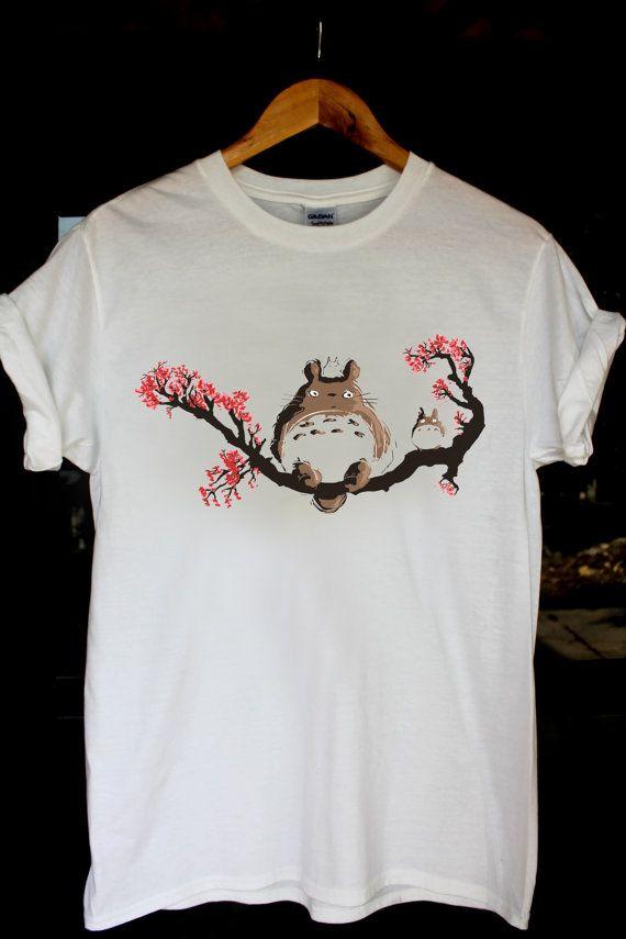 studio ghibli t shirt totoro art shirt tshirt size S,M,L,XL