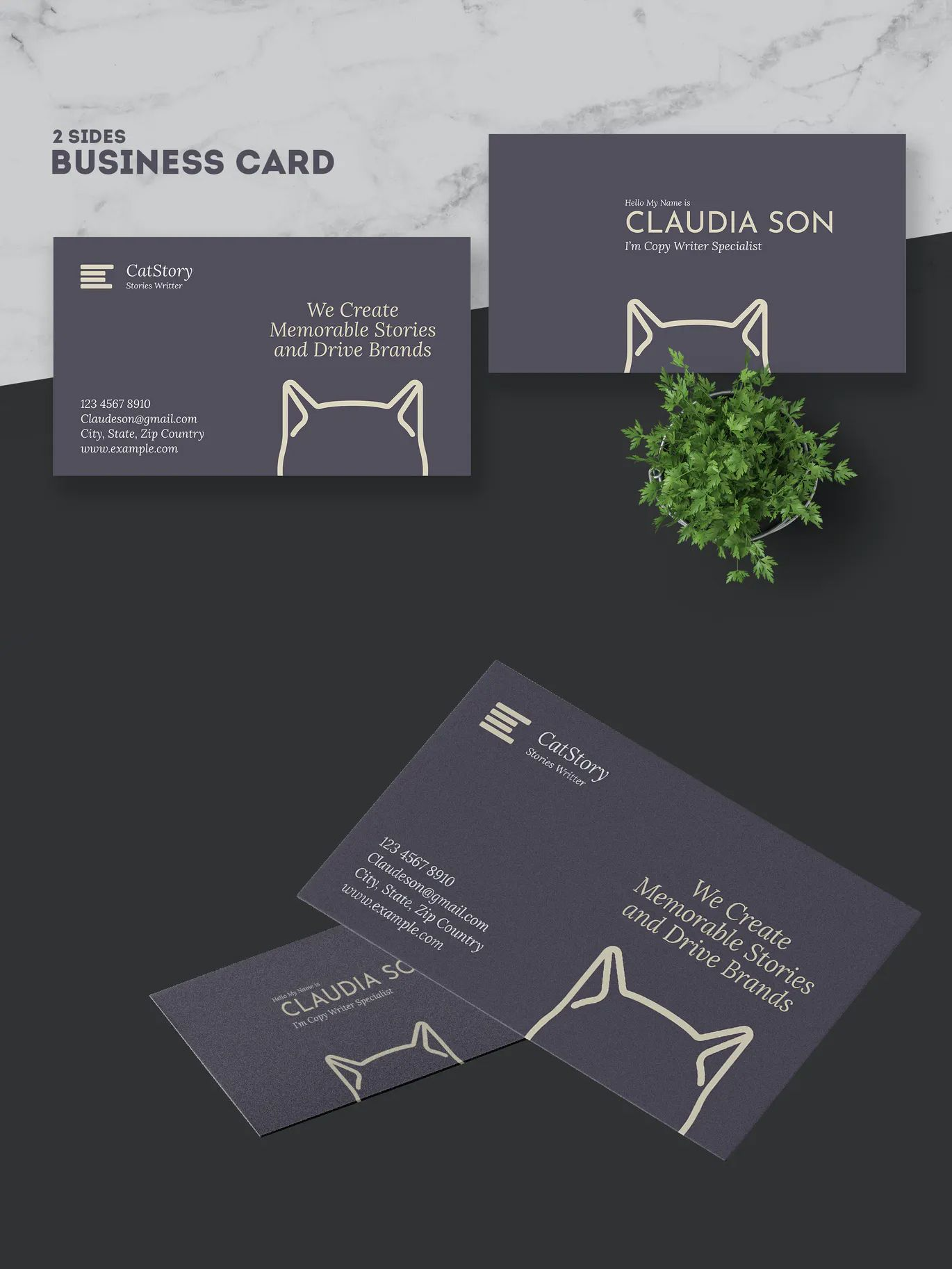Copy Writer Business Card Template By Afahmy On Envato Elements In 2020 Business Card Template Business Cards Cards