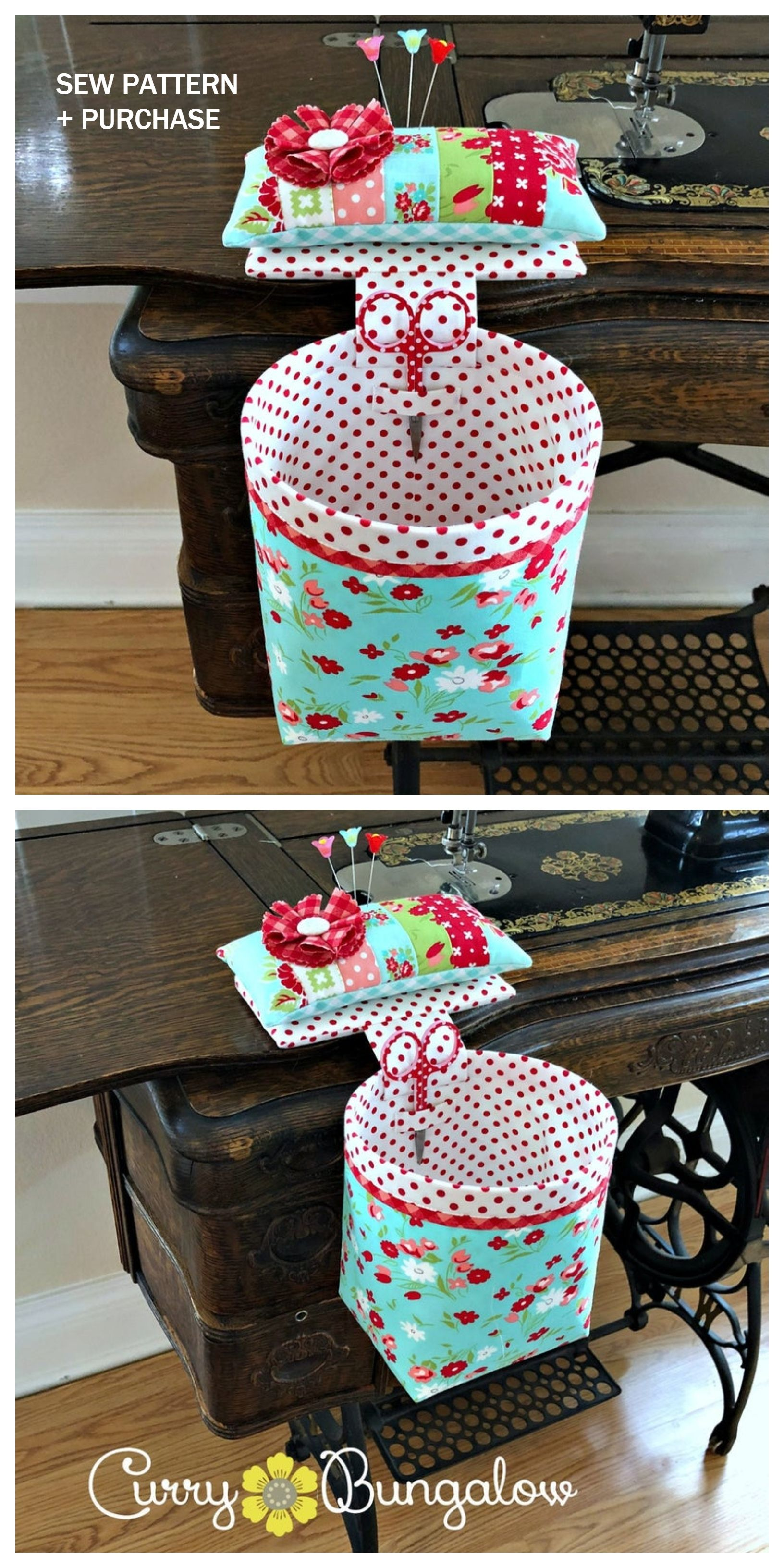Photo of DIY Thread Catcher Hanging Bag Free Sewing Patterns