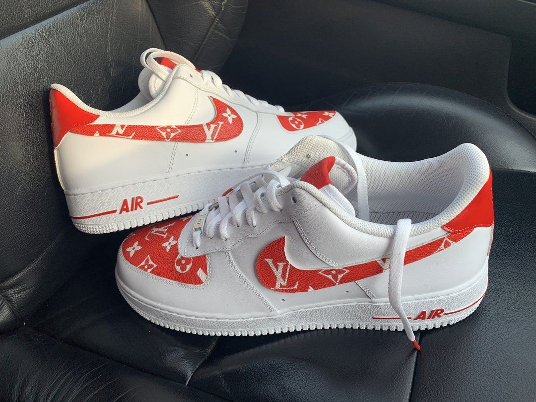Custom Red LV X Air Force 19 Derivation Customs in 2020
