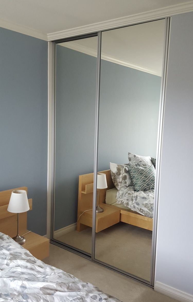 Mirrored Closet Doors Size Floor To Ceiling Threshold