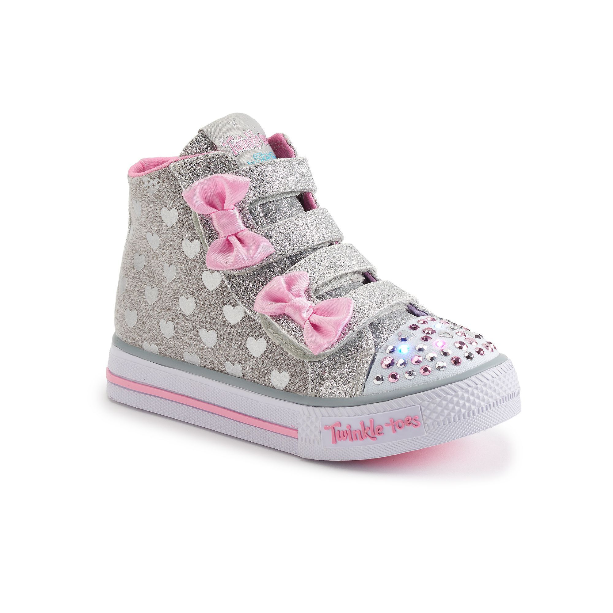 d37eb89813a8 Skechers Twinkle Toes Shuffles Doodle Day Toddler Girls  Light-Up Shoes