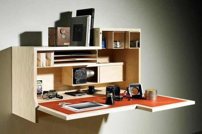 klappschreibtisch im kleinen home office 33 fotobeispiele schreibtisch schreibtisch m bel. Black Bedroom Furniture Sets. Home Design Ideas