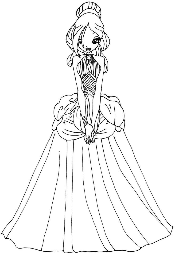 Coloring Pages Winx Google Search Color Coloring Pictures
