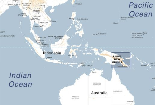 Papua New Guinea map Missions Pinterest Guinea map, Pacific - new world map fiji country