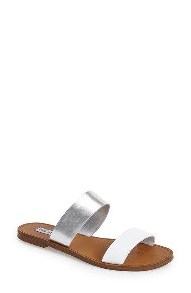 26a3abf0160 Steve Madden  D-Band  Leather Slide Sandal (Women) available at  Nordstrom  black size 7