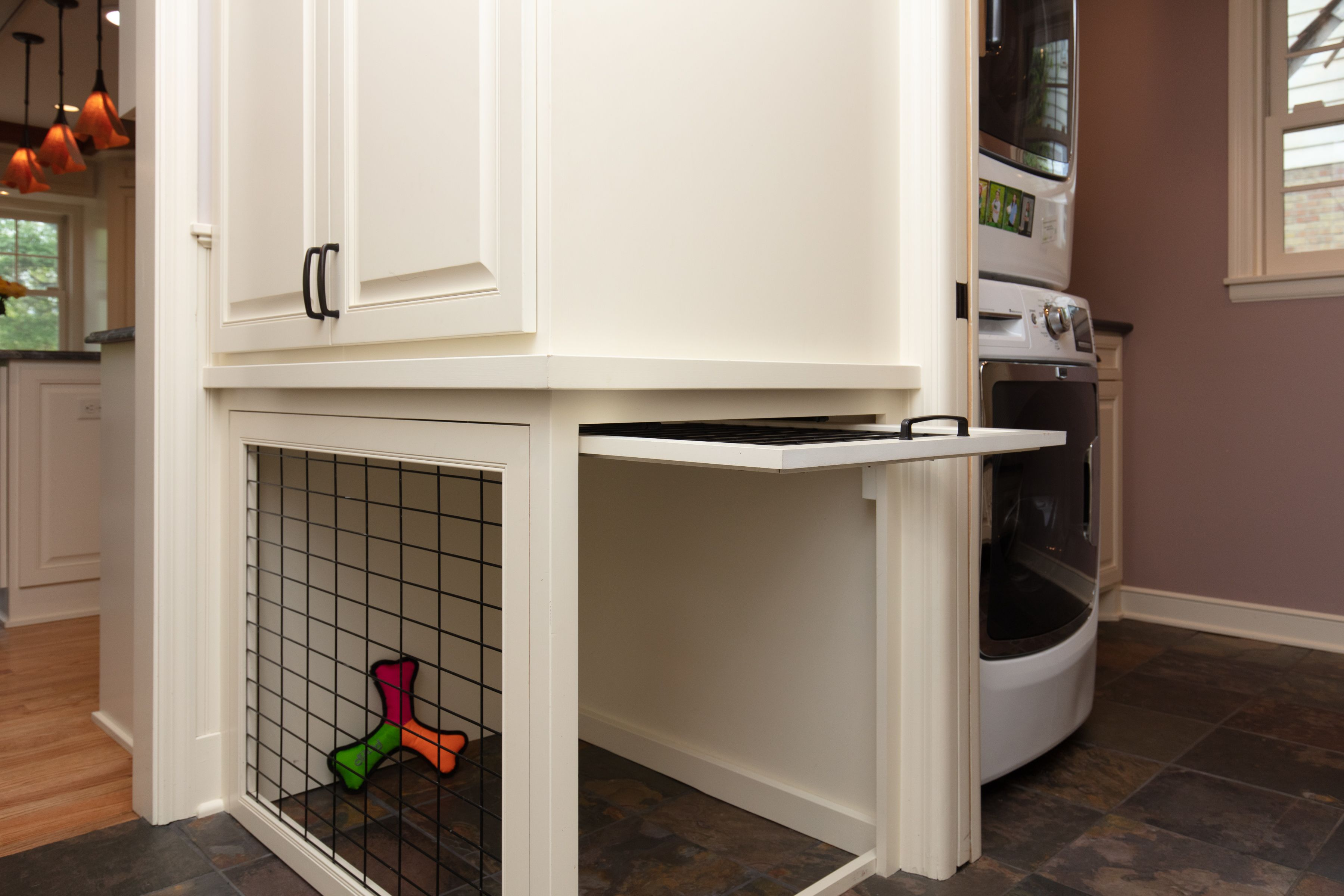 Built In Dog Kennel Near The Mud Room And Laundry Room Indoor