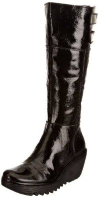 cdffee180e9 Fly london Yush Black Patent Leather New Womens Hi Boots Shoes.  199.99 Fly  London Boots