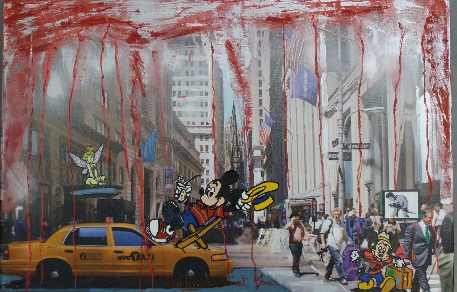 "Pop Art -Mickey- Cathy de Saint Maar - Tableau "" Taxi Driver """