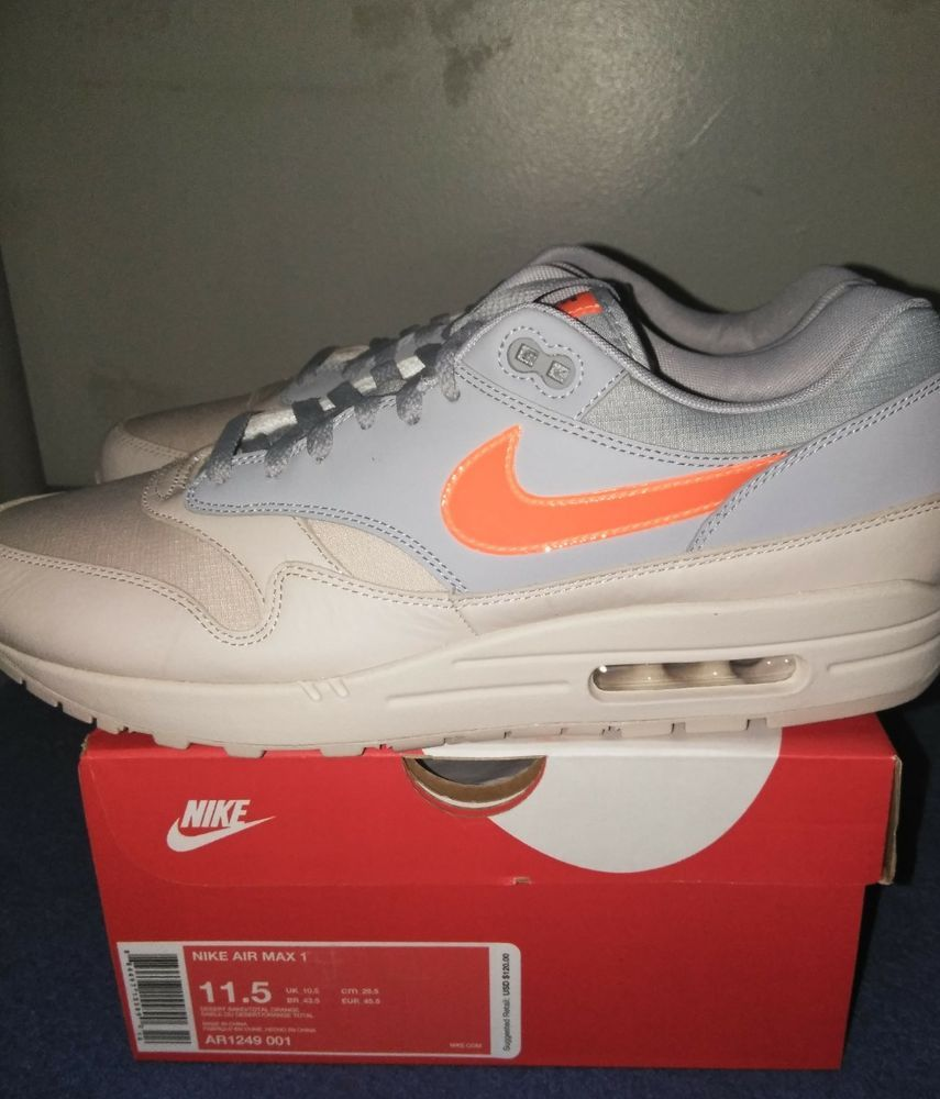 nike air max 1 desert sand and total orange  fashion  clothing  shoes   accessories  mensshoes  athleticshoes (ebay link) 463f175d4b