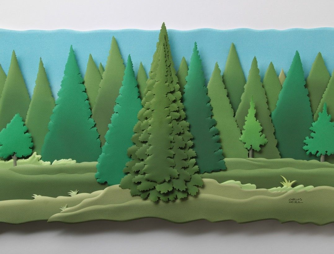 картинка для аппликации лес народ