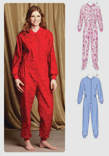 FOOTED PAJAMAS Sewing Pattern - One Piece PJs With/Without Feet ...
