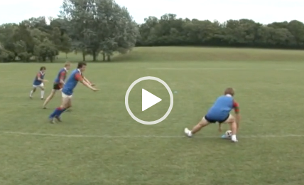 Video The Tunnel Drill In Pairs Rugby Coaching Rugby Drills Rugby Union Teams