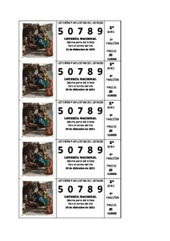 "The Spanish Christmas Lottery Game and Activities  This resource is a game/cultural activity. I have produced 18 authentic looking lottery tickets, and I have simplified the complicated rules of the Spanish lottery so that it can be played in class. Students can ""buy"" lottery tickets, act out the draw and win."