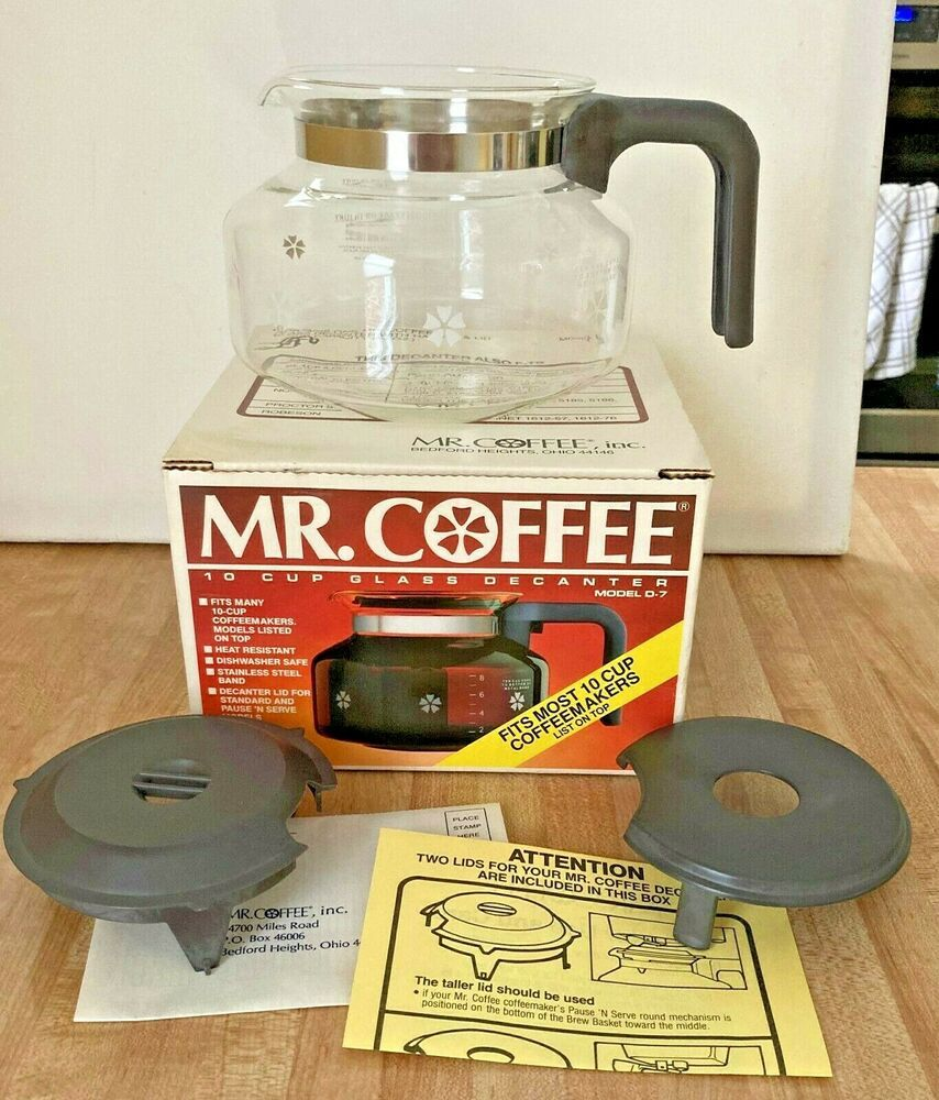 Mr Coffee D 7 Replacement Glass Pot Decanter Carafe 10 Cup New 72179003113 Ebay Glass Vintage Kitchen Glass Replacement