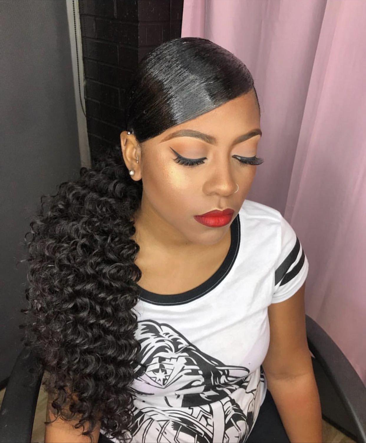 next hairstyle ideas | wedding party in 2019 | side ponytail