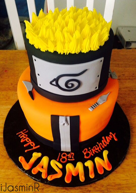 Tremendous Naruto Cake Anime Cake Naruto Birthday Naruto Party Ideas Personalised Birthday Cards Sponlily Jamesorg