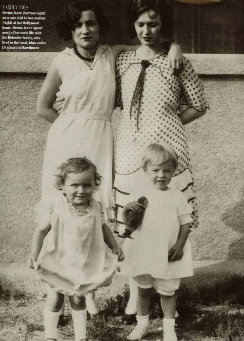 Norma Jeane Mortenson As A Child