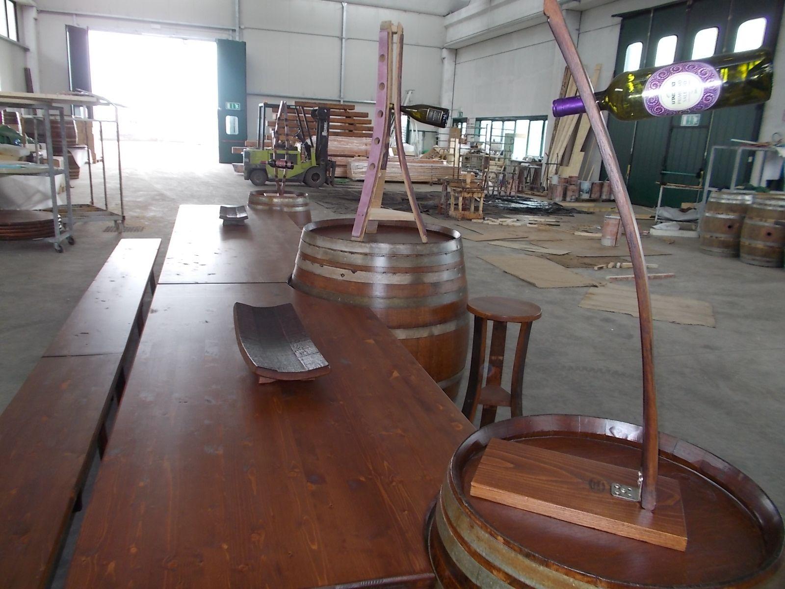 1677 tavolo personalizzato per cliente pub osteria for Botti per arredamento