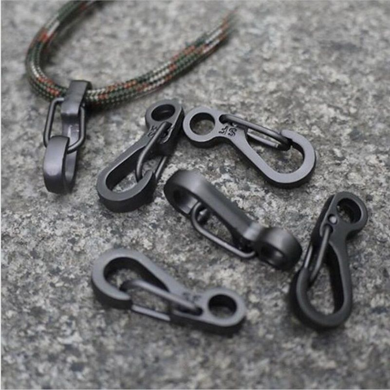 5Pcs Buckle Key Chain Mini Spring Hanging Buckle EDC Tool Hanging Keychain Hook