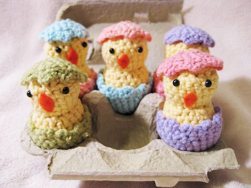 Crochet Easter Chicks The Shells Are Removable Cute Ostern