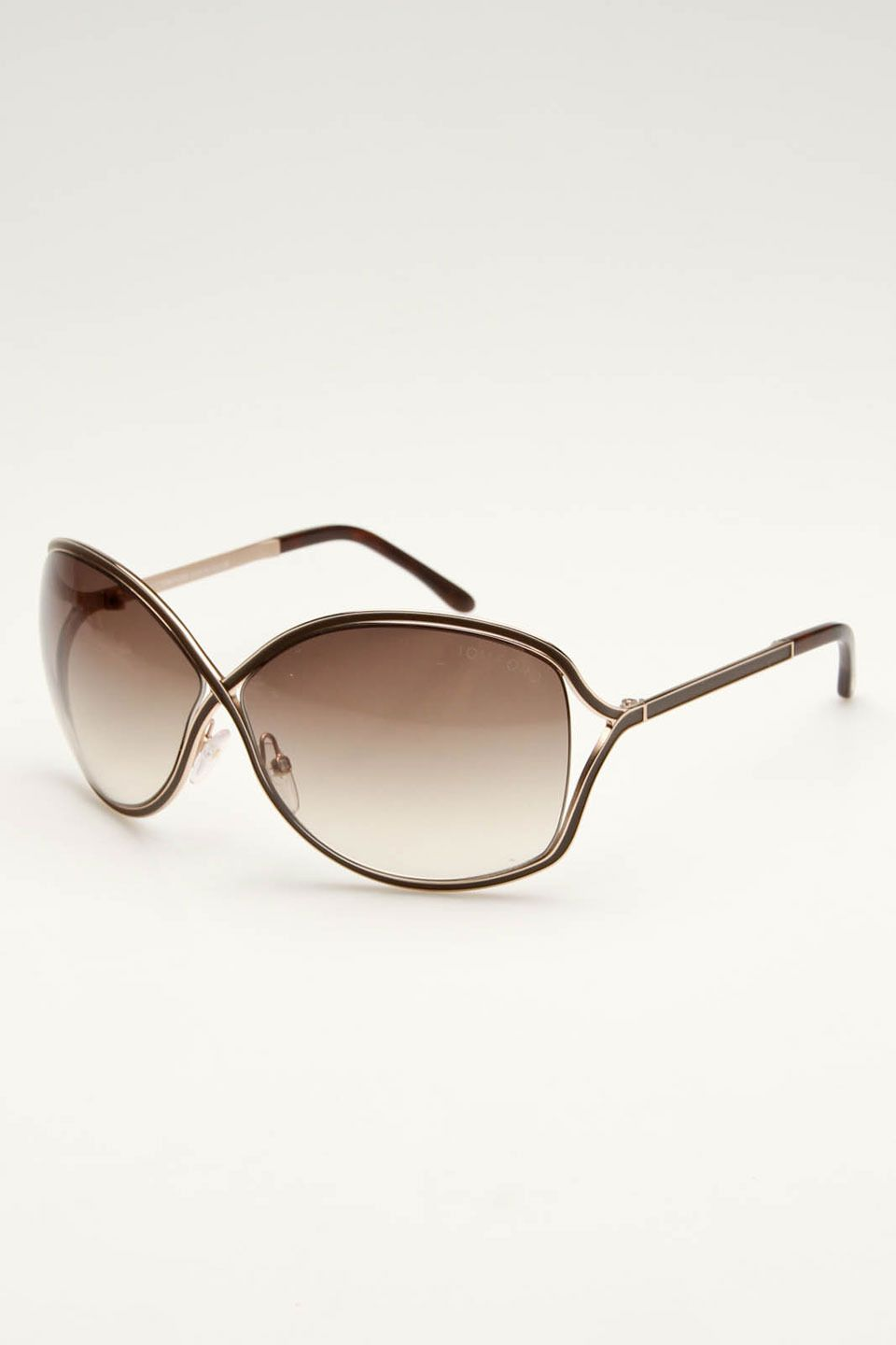 8ca42562f8504 Tom Ford Rickie Sunglasses In Brown and Gold