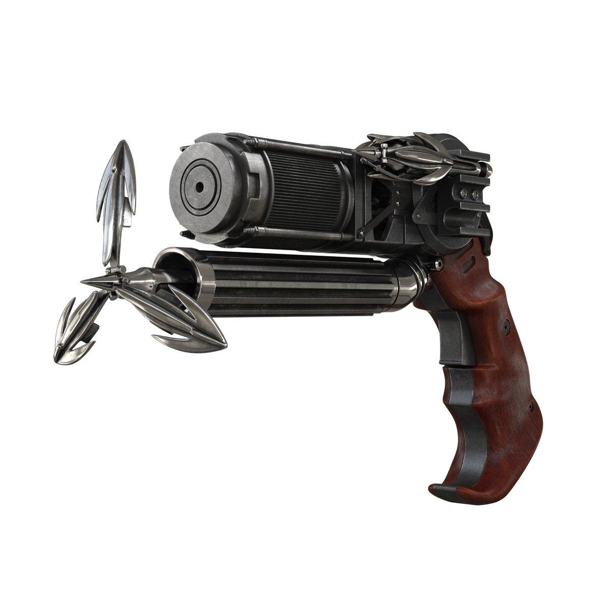Grapple gun batman v 3d model