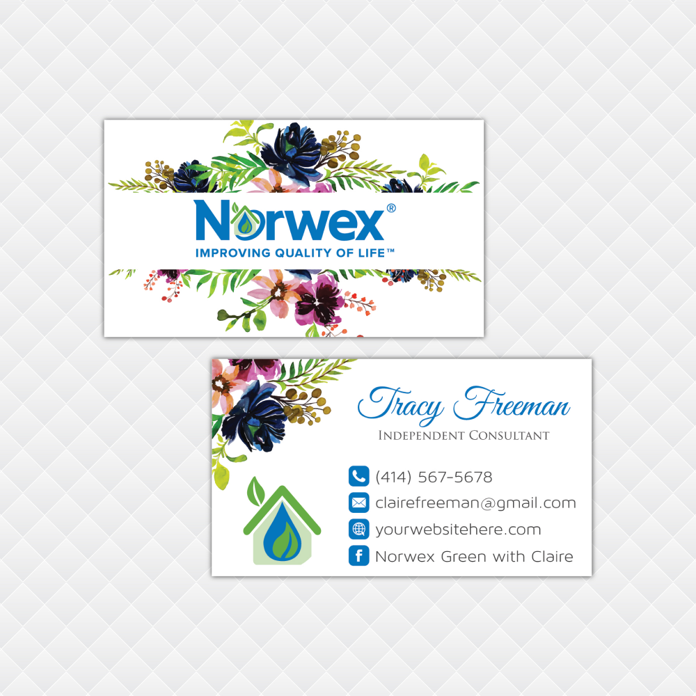 Norwex Business Cards Personalized Norwex Template Nr20 Cleaning Business Cards Custom Business Cards Personal Business Cards