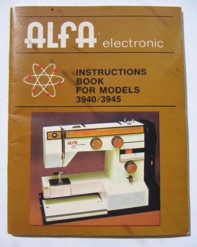 Alfa 801b sewing machine manual.