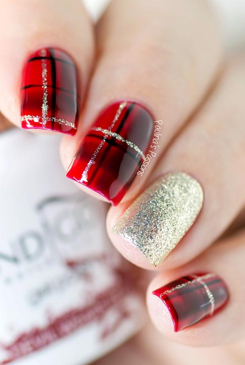 Christmas Nails - Easy Plaid Nail Art Tutorial - P