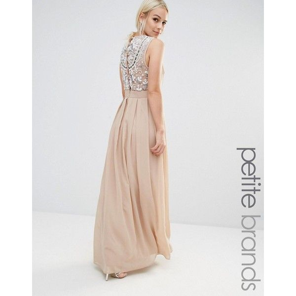 8d93927f0 Maya Petite Delicate Maxi Dress Embellished Back (£105) ❤ liked on Polyvore  featuring
