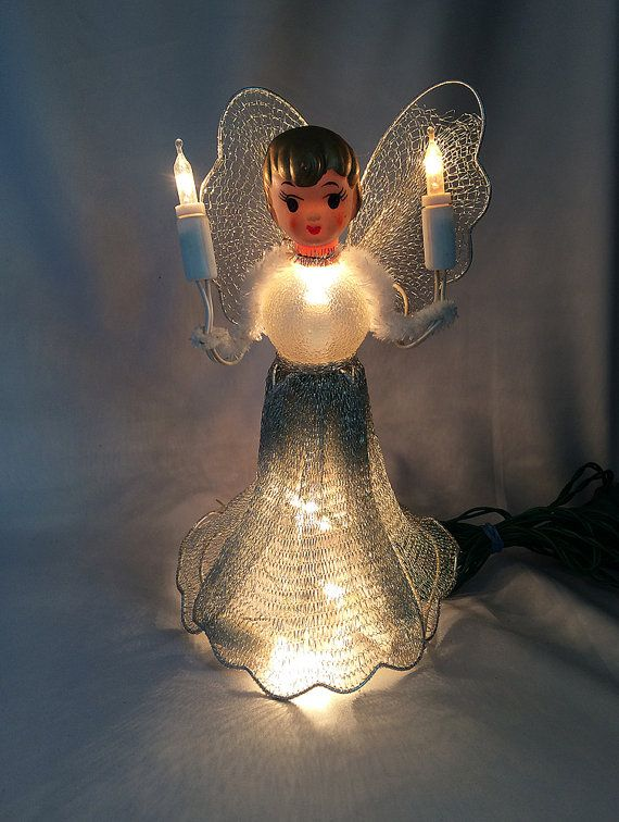 RESERVED for Sonya Vintage Angel TREE by JustVintageChristmas · Christmas  Tree ToppersChristmas ... - RESERVED For Sonya, Vintage Angel TREE TOPPER Christmas Ornament