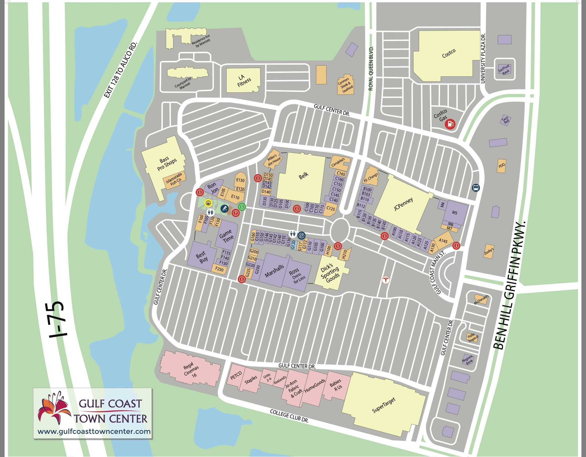 Gulf Coast Town Center Map Gulf Coast Town Center map | Gulf Coast Town Center Gulf Coast Town Center Map