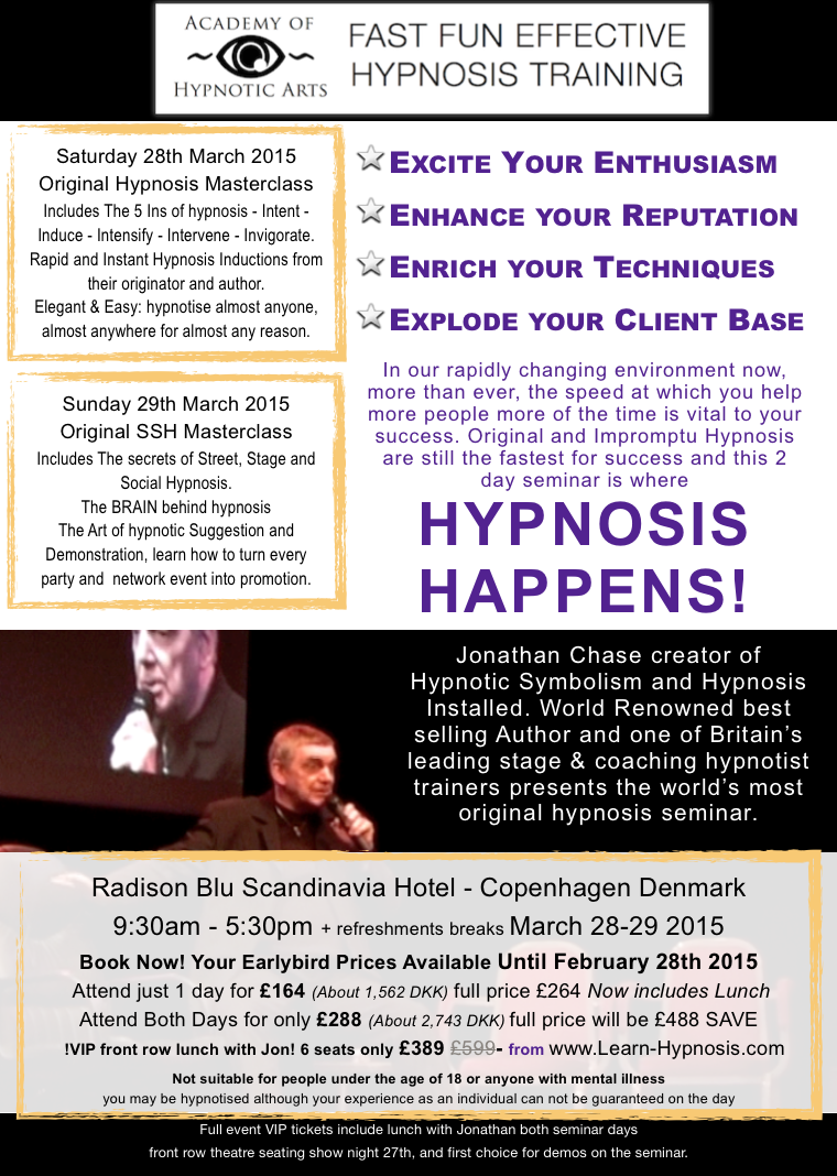 Jonathan Chase creator of Hypnotic Symbolism and Hypnosis ...