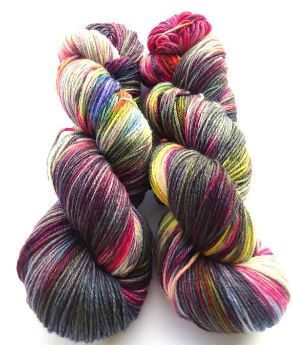 Hand painted Premium high twist sock yarn hand dyed : Franco