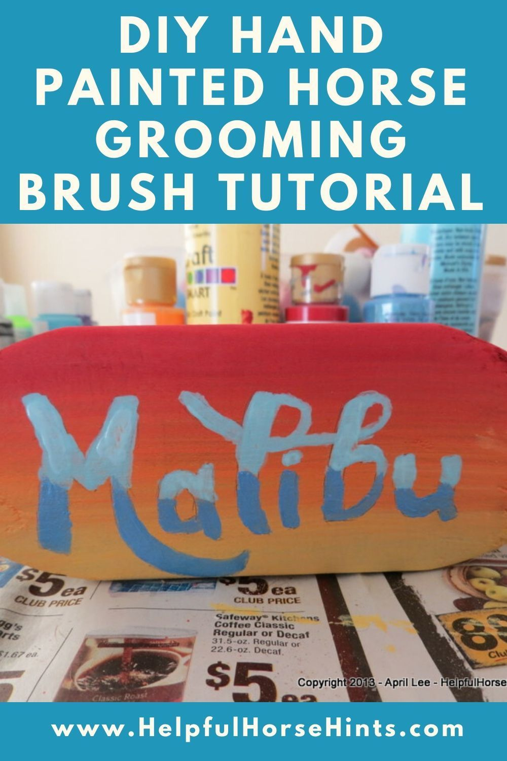 DIY Hand Painted Grooming Brush Tutorial