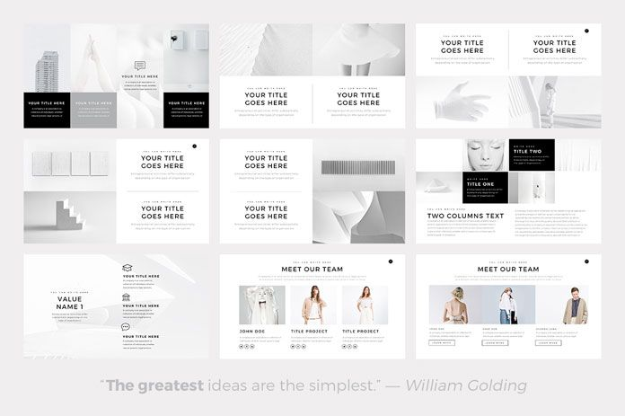 neue  u2013 minimalist powerpoint template