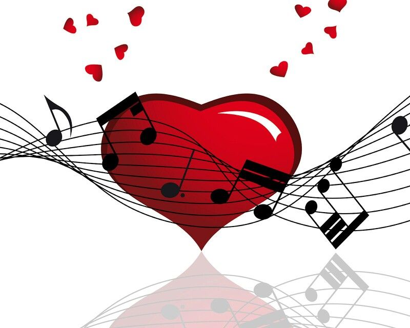 Music Notes And Hearts Music Note Clipart Pinterest