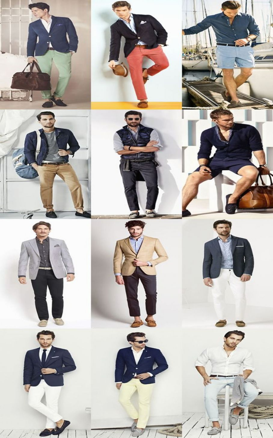31 Luxury Outfit Grid Mens Summer Inspiration #outfitgrid